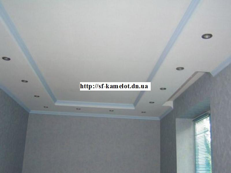 Потолок из гипсокартона для кухни фото своими