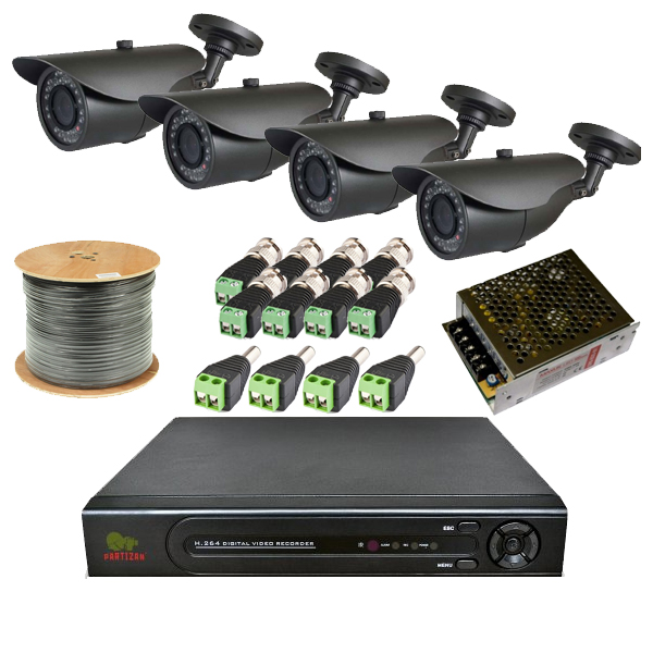 Комплект видеонаблюдения с камерами высокого разрешения