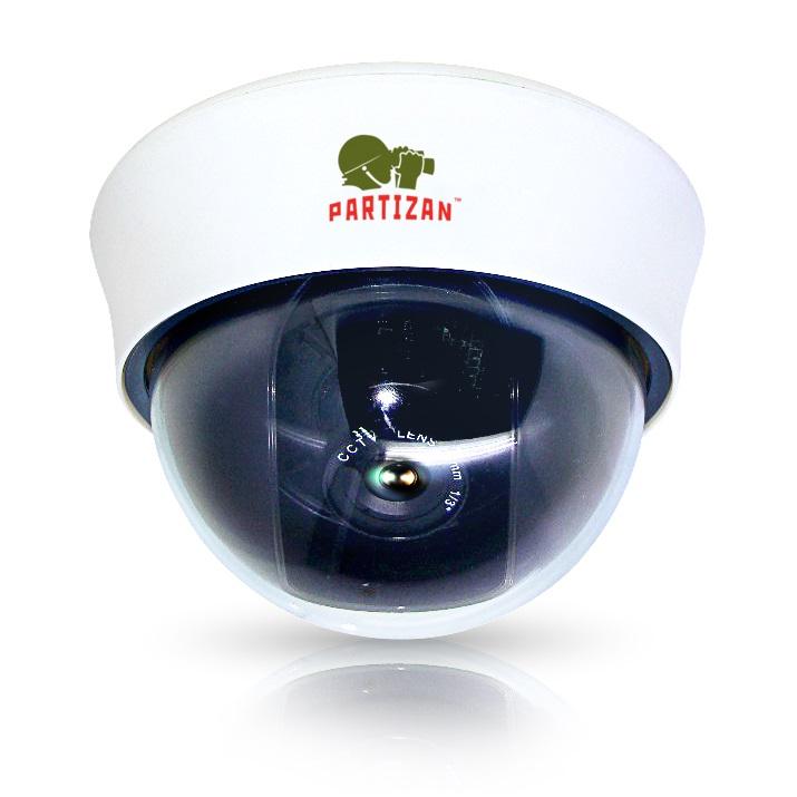 Купольная видеокамера Partizan IPD-VF2SP