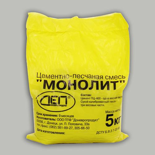 """Цементно-песчаная смесь """"Монолит"""""""