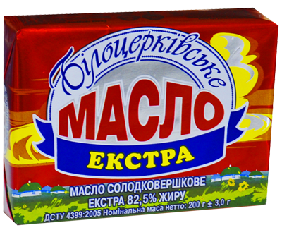 Масло солодковершкове «Екстра» 82,5% жиру ДСТУ 4399:2005