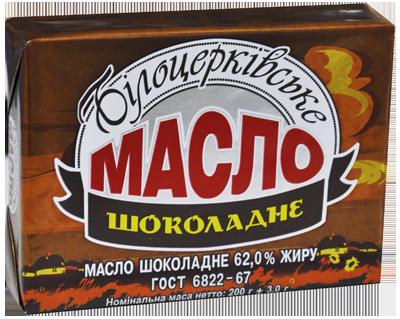 Масло «Шоколадне» 62,0% жиру ДСТУ 6822-67