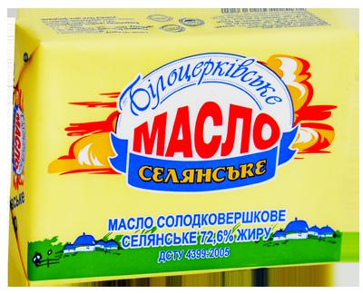 Масло солодковершкове «Селянське» 72,6% жиру ДСТУ 4399:2005