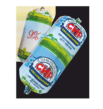 Сир кисломолочний 9% жиру згідно з ДСТУ 4554:2006