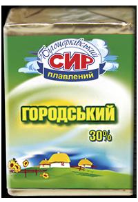 Сир плавлений скибковий «Городський» з масовою часткою жиру в сухій речовині 30%