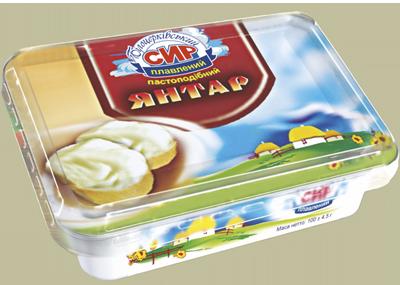 Сир плавлений пастоподібний «Янтар» з масовою часткою жиру в сухій речовині 60%