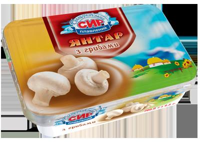Сир плавлений пастоподібний «Янтар» з грибами з масовою часткою жиру в сухій речовині 60%