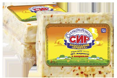 Сыр рассольный «Брынза» с паприкой 45% жирности согласно ГСТУ 7065:2009