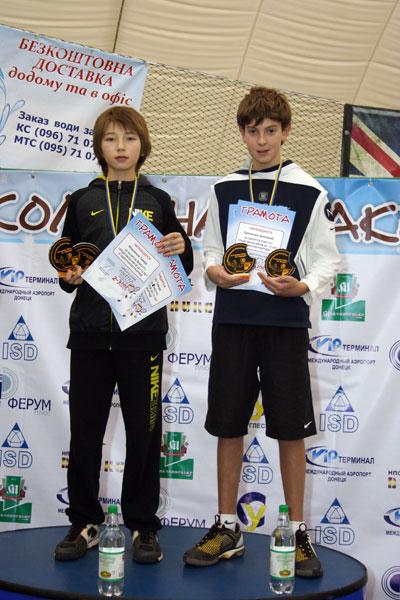 Тимур Мауленов и Дмитрий Еременко выиграли парную «Шоколадную ракетку-2012» (U-12)