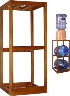Подставка-стеллаж деревянная средняя