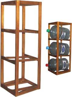 Подставка-стеллаж деревянная высокая