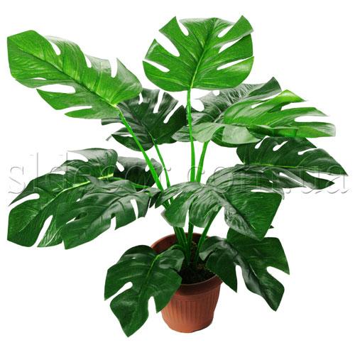 Монстера искусственная 12 листьев