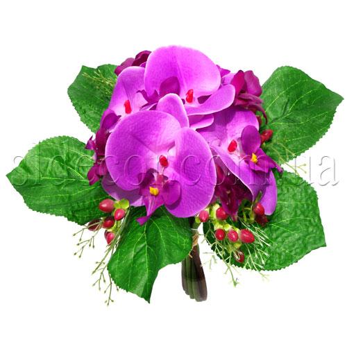 Букет с орхидеями цвет фиолетовый