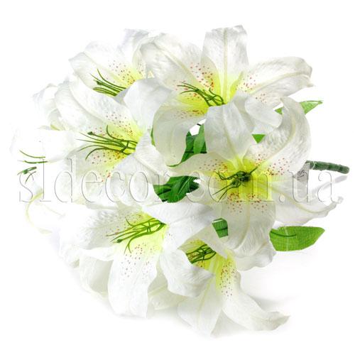 Букет из девяти белых лилий цветы и