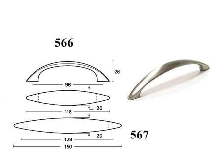 Мебельные ручки REI «567»