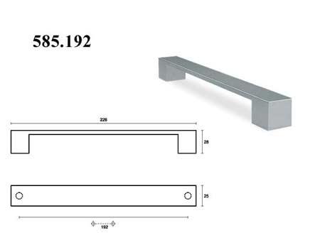Мебельные ручки REI «585.192»