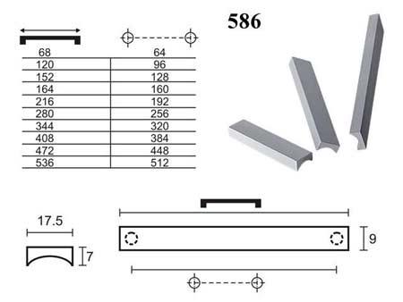 Мебельные ручки REI «586»