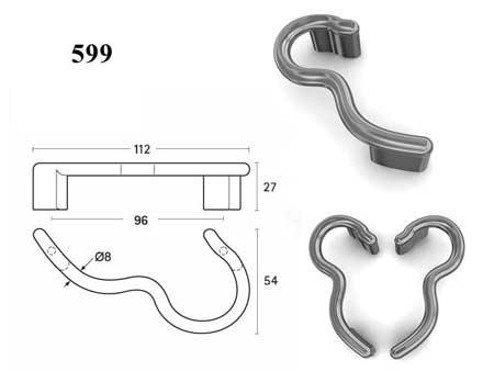 Мебельные ручки REI «599»