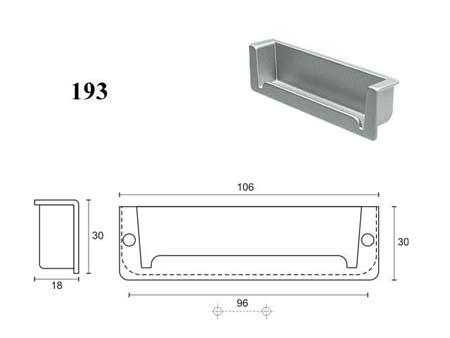 Мебельные ручки REI «193»