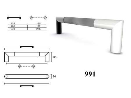 Мебельные ручки REI «991»