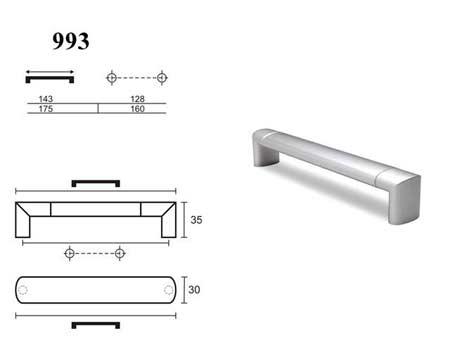 Мебельные ручки REI «993»