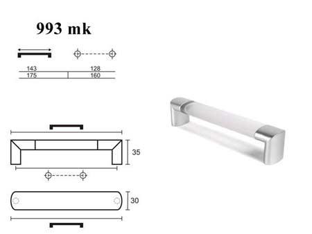 Мебельные ручки REI «993мк»