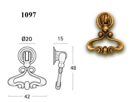 Мебельные ручки REI «1097»