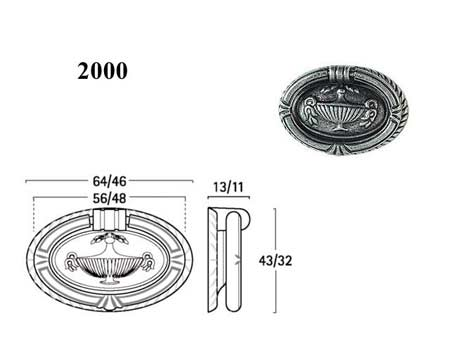 Мебельные ручки REI «2000»