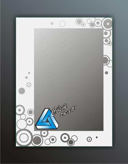 зеркала с матовым рисунком «ДПС 11.01»