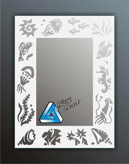 зеркала с матовым рисунком «ДПС 1.01»