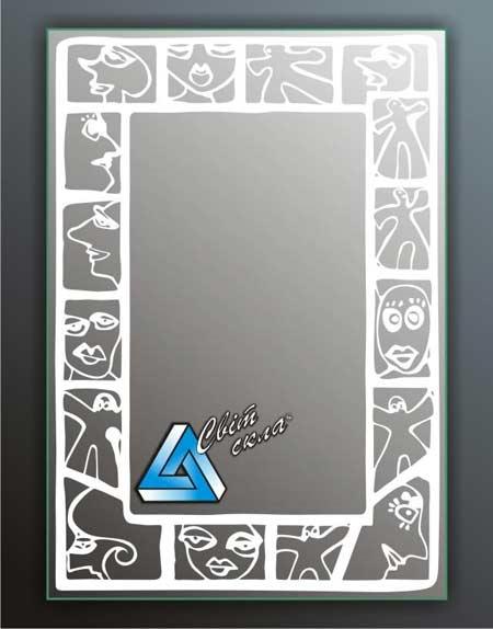 зеркала с матовым рисунком «ДПС 14.01»