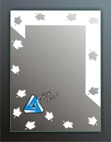 зеркала с матовым рисунком «ДПС 2.01»