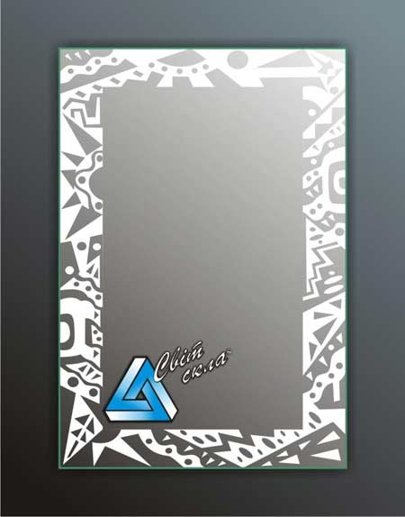 зеркала с матовым рисунком «ПС З.11»