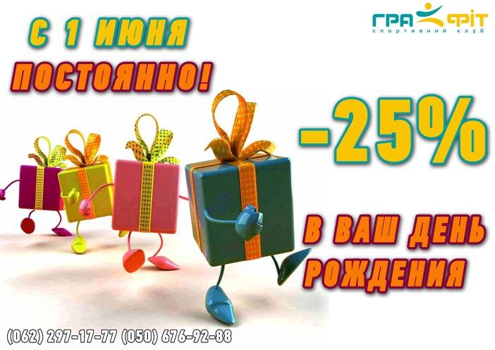 Подарок в Ваш День Рождения!