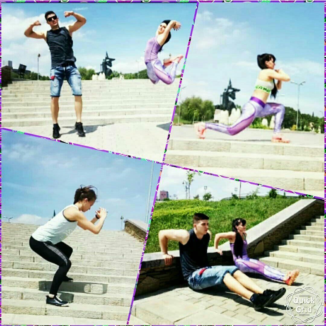 Тренировки на открытом воздухе с Мариной и Надеждой !!!!!