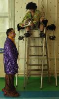 Танцующие гиганты. Бывший фельдшер мечтает создать ансамбль бального танца на ходулях