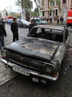 На площади Ленина горела «Волга»
